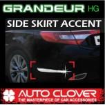 [AUTO CLOVER] Hyundai 5G Grandeur HG - Side Skirt Accent Chrome Molding Set (B760)