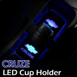 [LEDIST] Chevrolet Cruze - LED Cup Holder & Console Plates Set Ver.2