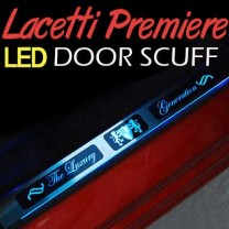 [ARTX] GM-Daewoo Lacetti Premiere - Luxury Generation Chrome LED Door Sill Scuff Plates Set