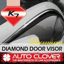 [AUTO CLOVER] KIA K7 - Premium Diamond Door Visor Set (C001)