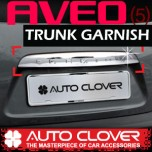 [AUTO CLOVER] Chevrolet Aveo Hatchback - Trunk Chrome Molding (B746)