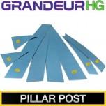 [KUMCHANG] Hyundai 5G Grandeur HG - Real Stainless Steel Column Molding Set
