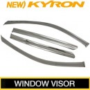 [KUMCHANG] SsangYong New Kyron - Real Stainless Steel Window Visor Set
