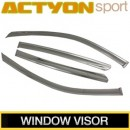 [KUMCHANG] SsangYong Actyon Sports - Real Stainless Steel Window Visor Set