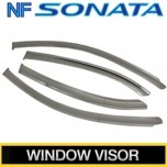 [KUMCHANG] Hyundai NF Sonata - Real Stainless Steel Window Visor Set