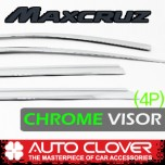 [AUTO CLOVER] Hyundai MaxCruz - Chrome Door Visor Set (C526)