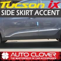 [AUTO CLOVER] Hyundai Tucson iX - Side Skirt Accent Chrome Molding Set (B675)