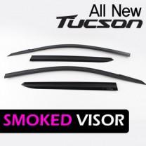 [KYOUNG DONG] Hyundai All New Tucson - Smoked Window Visor Set (K-901-148)