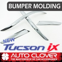 [AUTO CLOVER] Hyundai New Tucson ix  - Front & Rear Bumper Chrome Molding (C700)