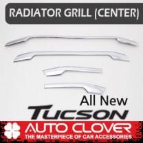 [AUTO CLOVER] Hyundai Tucson TL - Radiator Grill Cener Chrome Molding (C749)