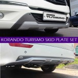 [SAEYOUNG] SsangYong Korando Turismo - Front & Rear Bumper Skid Plate Set
