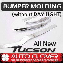 [AUTO CLOVER] Hyundai Tucson TL  - Bumper Chrome Molding (C707)
