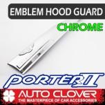 [AUTO CLOVER] Hyundai Porter II - Emblem Hood Guard Chrome Molding (D524)