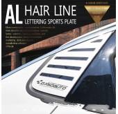 Накладки на задние стекла AL Hairline - Chevrolet All New Malibu (DXSOAUTO)