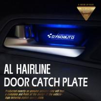 [DXSOAUTO] Hyundai Santa Fe DM - AL Hairline LED Door Catch Plate