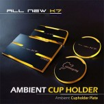 [MOBIEX] KIA All New K7 - Ambient Sports LED Cup Holder & Console Plate Set