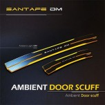 [MOBIEX] Hyundai Santa Fe DM​ - Ambient Sports LED Door Sill Scuff Plates Set