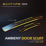 [MOBIEX] Hyundai Santa Fe DM - Ambient Sports LED Door Sill Scuff Plates Set