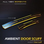 [MOBIEX] KIA All New Sorento - Ambient Sports LED Door Sill Scuff Plates Set