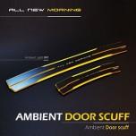 [MOBIEX] KIA All New Morning - Ambient Sports LED Door Sill Scuff Plates Set