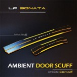 [MOBIEX] Hyundai LF Sonata - Ambient Sports LED Door Sill Scuff Plates Set