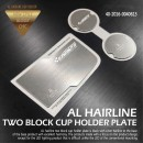 [DXSOAUTO] KIA K7 - AL Hairline Two Block Cup Holder & Console Plate Set