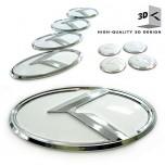 [ZEO] High Quality 3D Evolution K Emblem Package (WHITE)