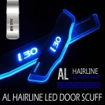 [DXSOAUTO] Hyundai i30 PD - AL Hairline LED Door Sill Scuff Plates Set