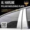 [DXSOAUTO] KIA All New Pride Hatchback - AL Hairline Pillar Molding Plates