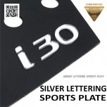 [DXSOAUTO] Hyundai i30 PD - Silver Lettering Sports Plate Set