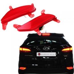 Рефлекторы задние LED с иллюминацией - Hyundai Santa Fe DM (CAMILY)
