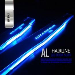 Накладки на пороги AL Hairline LED - Hyundai Grandeur iG (DXSOAUTO)
