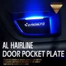 [DXSOAUTO] Hyundai Ioniq - AL Hairline LED Door Pocket Plate Set
