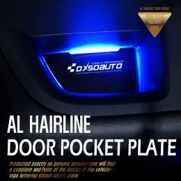 [DXSOAUTO] Chevrolet All New Malibu - AL Hairline LED Door Pocket Plate Set