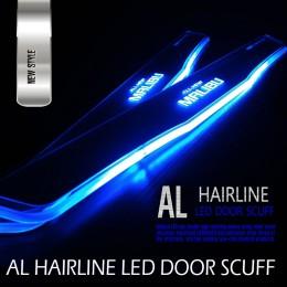 [DXSOAUTO] Chevrolet All New Malibu - AL Hairline LED Door Sill Scuff Plates Set