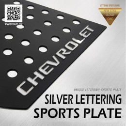 [DXSOAUTO] Chevrolet Cruze 2017 - Silver Lettering Sports Plates (C)