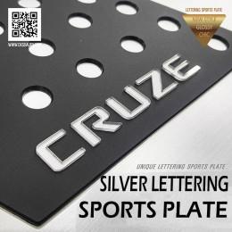 [DXSOAUTO] Chevrolet Cruze 2017 - Silver Lettering Sports Plates (A)