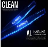 Накладки на пороги AL Hairline Clean LED - HYUNDAI (DXSOAUTO)