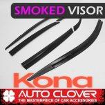 [AUTO CLOVER] Hyundai Kona - Smoked Door Visor Set (D775)
