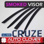 [AUTO CLOVER] Chevrolet Cruze 2017 - Smoked Door Visor Set (D762)