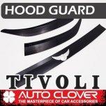 [AUTO CLOVER] SsangYong Tivoli - Emblem Hood Guard Black Molding (D986)
