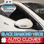 [AUTO CLOVER] KIA Sportage QL - Black Diamond Visor Set (D943)