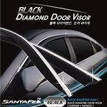 [AUTO CLOVER] Hyundai Santa Fe TM - Black Diamond Visor Set (D983)