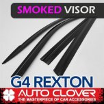 [AUTO CLOVER] SsangYong G4 Rexton - Smoked Door Visor Set (B465)