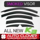 [AUTO CLOVER] KIA All New K3 - Smoked Door Visor Set (B460)