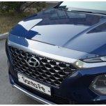 Дефлектор капота Super Guard (CLEAR) - Hyundai Santa Fe TM (EGR)