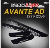 [SENSE LIGHT] Hyundai Avante AD - LED Moving Shift Door Sill Scuff Plates Set