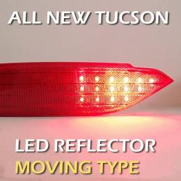 Рефлекторы задние LED с иллюминацией - Hyundai All New Tucson (LEDIST)