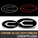 [LEDIST] HYUNDAI / KIA - Concepto Chrome 3D LED 2-Way Emblem Package