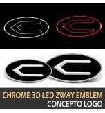 Эмблемы Concepto 3D LED 2-way - HYUNDAI / KIA (LEDIST)
